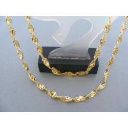 0fe46f9d5 Zlatá retiazka dámska žlté zlato točený vzor Zlatá retiazka dámska žlté ...