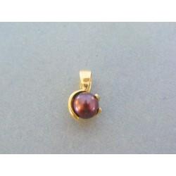 Zlatý prívesok perla žlté ... d0aa91984d6