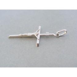 ... Zlatý prívesok krížik biele zlato ukrižovaný Ježiš VIK118Baw 98b26ef95af