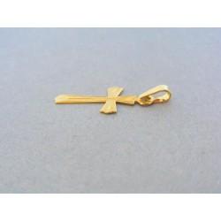 Zlatý prívesok krížik žlté zlato vzorovaný VIK069Za Zlatý prívesok krížik  žlté ... 2954986d3fd