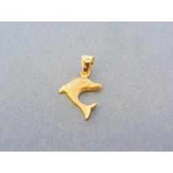 Zlatý prívesok delfín žlté ... 817bca39354