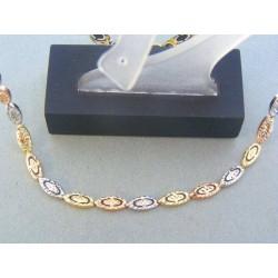 1088d6e88 Zlatá retiazka trojfarebné zlato VR46670V Zlatá retiazka trojfarebné zlato  VR46670V