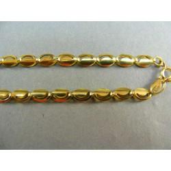 Zlatá retiazka zo žltého zlata so zárezom DR45832