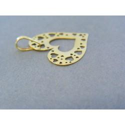 Zlatý prívesok srdiečko žlté zlato vzorované DI098Z Zlatý prívesok srdiečko  žlté ... f08141b9252