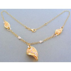 Zlatá retiazka náhrdelnik žlté biele zlato VR461401V
