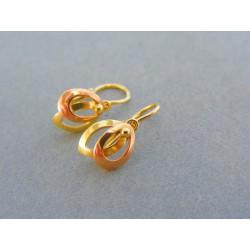 Zlaté detské náušnice žlté červené zlato VA109V