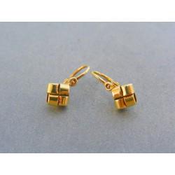 Zlaté detské náušnice zaujímavy tvar žlté zlato VA128Z