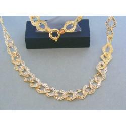 Zlatá retiazka náhrdelnik žlté biele zlato VR512071V