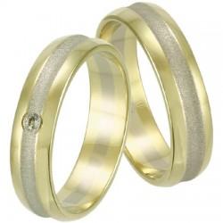 Zlaté snubné prstene obrúčky (6)  a08286677f1