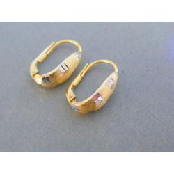 Zlaté dámske náušnice žlté biele zlato DA223V