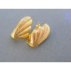 Zlaté dámske náušnice žlté zlato vzorované DA214Z