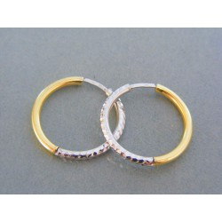 Zlaté dámske náušnice kruhy žlté biele zlato VDA254V