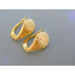 Zlaté dámske náušnice žlté zlato jemný vzor DA195Z