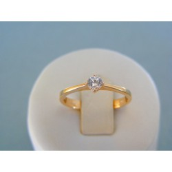 Zlatý dámsky prsteň červené zlato jemný kamienok DP54214C