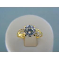 Zlatý dámsky prsteň žlté zlato kamienky zirkónu DP56214Z