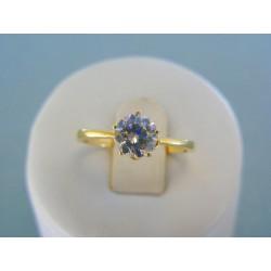 Zlatý dámsky prsteň žlté zlato zirkón v korunke DP55253Z