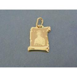 Zlatý prívesok platnička znamenie panna žlté zlato DI050Z