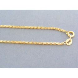 Zlatá dámska retiazka prepletaná žlté zlato VR45249Z