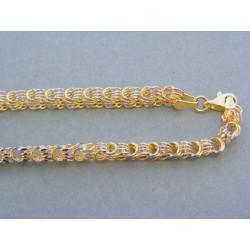 Zlatá dámska retiazka náhrdelnik žlté biele zlato VR461816V 14 karátov 585/1000 18.16g