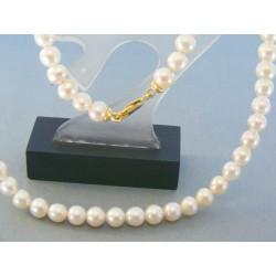 Zlatá dámska retiazka náhrdelnik perlový žlté zlato DR443196Z 14 karátov 585/1000 31.96g