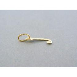 Zlatý prívesok písmeno J žlté zlato vzorovaný DI029Z 14 karátov 585/1000 0.29g