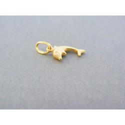 Zlatý prívesok delfín žlté zlato DI059Z 14 karátov 585/1000 0.59g