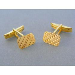 Zlaté manžetové gombíky žlté zlato vzorované DMG425Z 14 karátov 585/1000 4.25g
