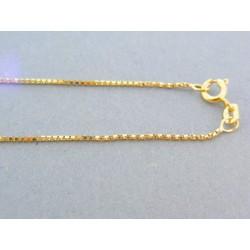 Zlatá retiazka žlté zlato očká DR46218Z 14 karátov 585/1000 2.18g