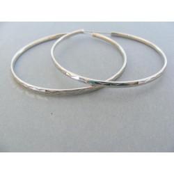 Strieborné dámske náušnice kruhy vzorované DAS744 925/1000 7.44g