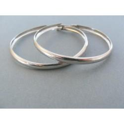 Strieborné dámske náušnice kruhy hladké DAS460 925/1000 4.60g