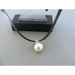 Strieborná dámska retiazka náhrdelnik perla kamienky DRS38430 925/1000 4.30g
