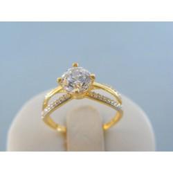 Zlatý dámsky prsteň žlté zlato číre zirkóny DP54224Z 14 karátov 585/1000 2.24g