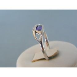 Strieborný dámsky prsteň fialový kameň VPS56281 925/1000 2.81g