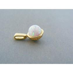 Zlatý prívesok kameň opál žlté zlato VI131Z 14 karátov 585/1000 1.31g