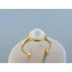 Zlatý dámsky prsteň kameň opál žlté zlato VP54223Z 14 karátov 585/1000 2.23g