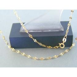 Zlatá retiazka žlté zlato zdobená DR445194Z 14 karátov 585/1000 1.94g