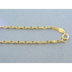 Zlatá retiazka žlté zlato zdobená DR42143Z 14 karátov 585/1000 1.43g