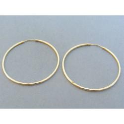 Zlaté dámske náušnice kruhy vzorované žlté zlato DA312Z 14 karátov 585/1000 3.12g