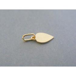 Zlatý prívesok srdiečko vzorovaný žlté zlato VDI037Z 14 karátov 585/1000 0.37g