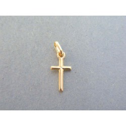 Zlatý prívesok krížik žlté zlato VDIK032Z 14 karátov 585/1000 0.32g