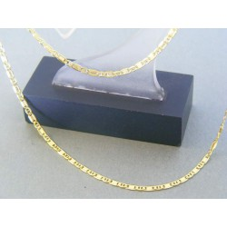 Zlatá retiazka platničky očká žlté zlato DR40167Z 14 karátov 585/1000 1.67g
