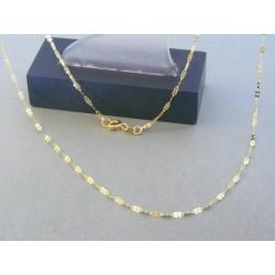 Zlatá dámska retiazka zdobená žlté zlato DR42087Z 14 karátov 585/1000 0.87g