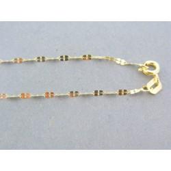 Zlatá retiazka žlté zlato zdobená DR50101Z 14 karátov 585/1000 1.01g