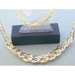 Zlatá dámska retiazka náhrdelnik žlté biele červené zlato DR45917V 14 karátov 585/1000 9.17g