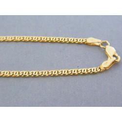 Zlatá retiazka oválne očká žlté zlato DR45696Z 14 karátov 585/1000 6.96g