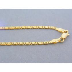 Zlatá retiazka žlté zlato platničky DR445578Z 14 karátov 585/1000 5.78g