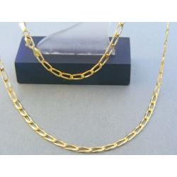 Zlatá retiazka žlté zlato oválne očká DR49715Z 14 karátov 585/1000 7.15g