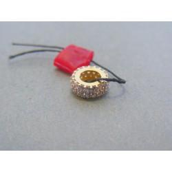 Zlatý dámsky prívesok kamienky VI080Z 14 karátov 585/1000 0.80g