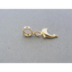 Zlatý prívesok delfínik VI059V 14 karátov 585/1000 0.59g