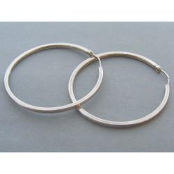 Strieborné dámske náušnice kruhy DAS495 925/1000 4.95g